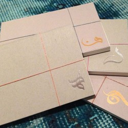 Calligraphy Notepads - Gold