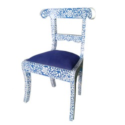 Blue Arabesque Chair