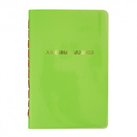 Awesome Musing Green Notebook
