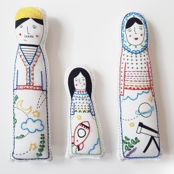 Embroidered Dolls - Holland