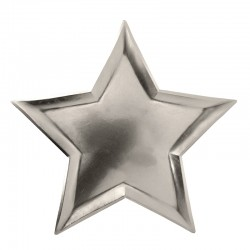 Star Foil Plates (Silver)