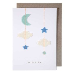 Stitched Baby Mobile Card