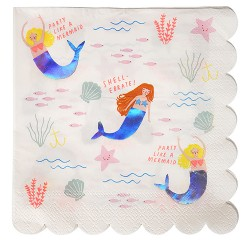 Let's Be Mermaid Large Napkins