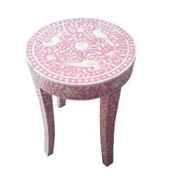 Round Arabesque Stool