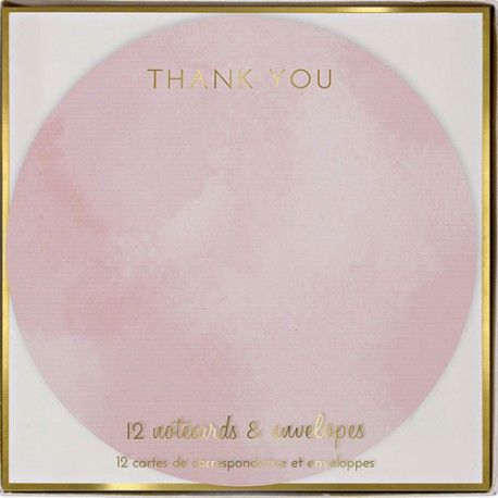 Round Thank You Cards