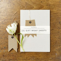 Mini Polka Dot Gift Wrap Set