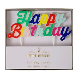 Colored Happy Birthday Candle