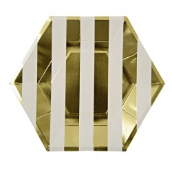 Gold Stripes Plate