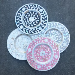 Mother of Pearl Side-Plate Chargers