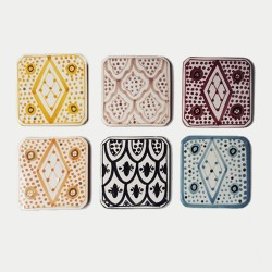 Set of 6 Porcelain Coasters