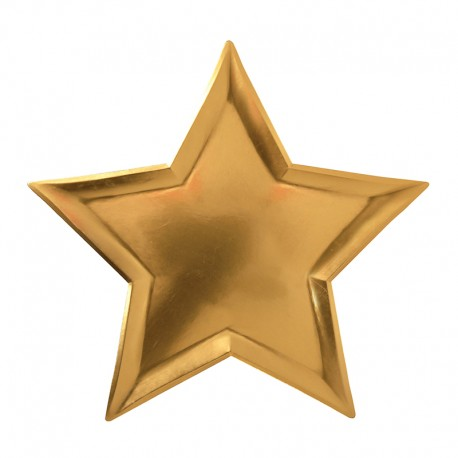 Star Foil Plates (Gold)