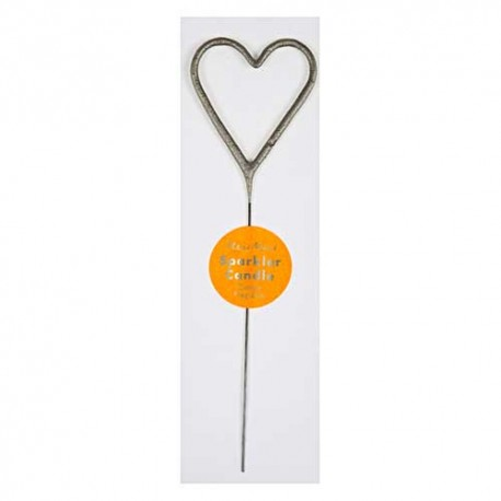 Wondercandle Heart Silver