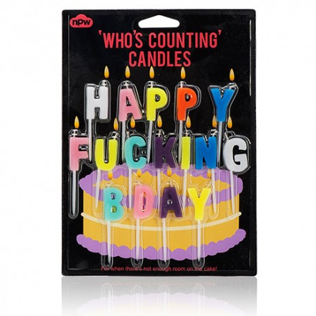 Happy Fucking Birthday Candles