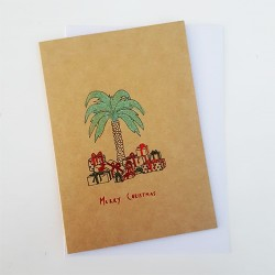 Palm Tree Christmas Card