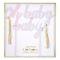 Oh Baby Baby Acrylic Topper