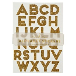 Gold Alphabet Stickers