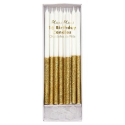 Gold Dipped Glitter Candles