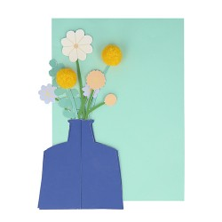 Flower Vase Stand-up Card