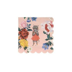 Nathalie Lete Flora Cat Small Napkins